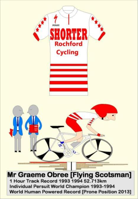 graham obree jersey and cartoon