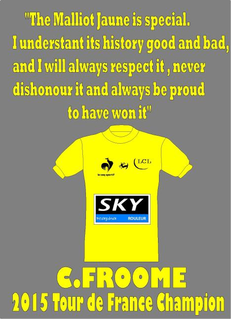 chris froome jersey