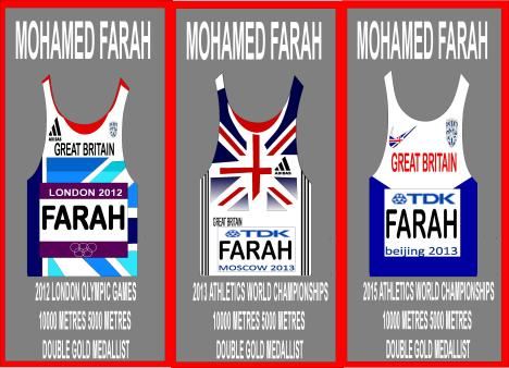 mo farah triple crown in gold