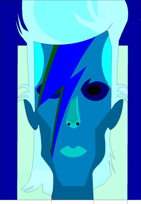 bowie blue drawing