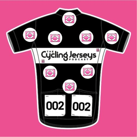 cycle jersey podcast polka dots